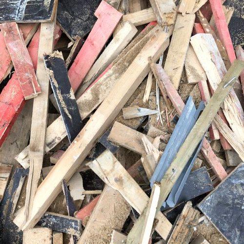 Holz verunreinigt